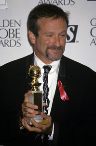 "Robin Williams at ""The 51st Annual Golden Globe Awards""1994© 1994 Gary Lewis - Image 5045_0039"
