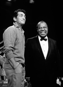 """Louis Armstrong with Dean Martin on """"The Dean Martin Show""""10-06-1965** I.V. - Image 5062_0043"""