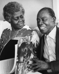 Louis Armstrong and wife, Lucille Wilson, at home in Queens, NYJune 1971** I.V. - Image 5062_0097