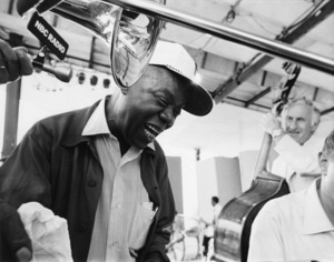 Louis Armstrong and Jack Lesberg in rehearsal for Newport R.I. Jazz FestivalJuly 1970** I.V. - Image 5062_0104