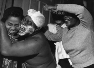 Left to right: Lil Harding, Louis Armstrong, Milton Mezzrow, Lucille Wilsoncirca 1952** I.V. - Image 5062_0115