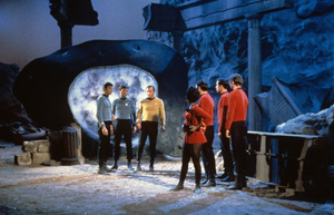 """Star Trek"" (Episode: The City on the Edge of Forever)William Shatner, DeForest Kelley, Leonard Nimoy, Nichelle Nichols1967 - Image 5088_0166"