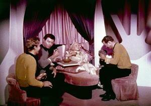 """Star Trek"" (Episode: The Corbomite Maneuver)Anthony D. Call, DeForest Kelley, Clint Howard, William Shatner1966 - Image 5088_0286"