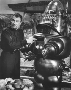 """Forbidden Planet""Walter Pidgeon, Robby the Robot, MGM, 1956, **I.V. - Image 5089_0001"