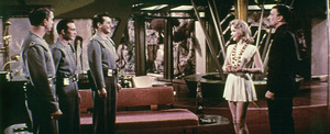 """""""The Forbidden Planet""""Anne Francis, Walter Pidgeon, Leslie Nielsen1956 MGM - Image 5089_0008"""