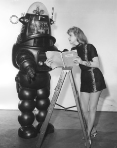 """""""Forbidden Planet""""Anne Francis, Robby the Robot, MGM, 1956, **I.V. - Image 5089_0043"""