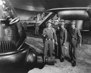 """Forbidden Planet""Leslie Nielsen, Robby the Robot, 1956, MGM  **I.V.  - Image 5089_0050"