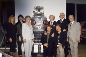 """Lost in Space"" Marta Kristen, Angela CArtwright, June Lockhart, Bill Mumy, Jonathan Harris, Bob May, Dick Tufeld, Mark Goddard at The Museum of Television and Radio in Beverly Hills 1977 © 2009 Space Productions ** I.A. - Image 5095_0181"