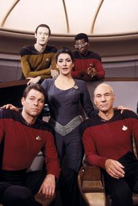 """Star Trek: The Next Generation""Jonathan Frakes, Marina Sirtis, Brent Spiner, LeVar Burton, Patrick Stewart1987 Paramount © 1987 Gene Trindl - Image 5115_0253"
