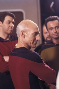 """Star Trek, The Next Generation""Jonathan Frakes,Patrick Stewart1988 Paramount © 1988 Gene Trindl - Image 5115_0287"