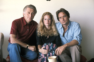 Michael Douglas with his wife Diandra and his father Kirk1978 © 1978 Bruce McBroom - Image 5160_0034