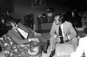 Warren Beatty and Jack Nicholson at Michael Douglas
