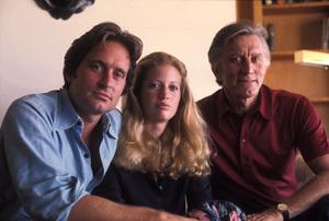 Michael Douglas, Kirk Douglas, and Diandra Douglas at Michael