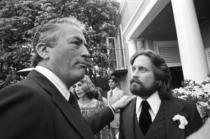 Gregory Peck with Michael Douglas at Michael
