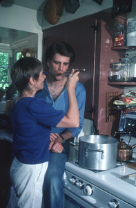 Ted Danson at home with wife Casey Coates, 1982.Photo by Paul Drinkwater**H.L. - Image 5171_0005