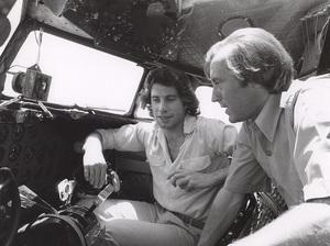 John Travolta and David Frostin his vintage DC 3 Airplane, c. 1977.**H.L. - Image 5181_0023
