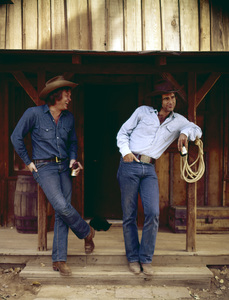 Sam Elliott and Michael Whitney in an advertisement for Falstaff Beer1972© 1978 Sid Avery - Image 5198_0009