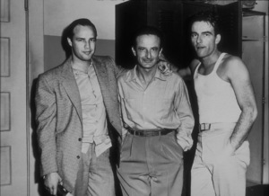 """""""From Here to Eternity""""Marlon Brando visits Fred Zinnemann and Montgomery Clift on the set1953MPTV - Image 5336_0008"""