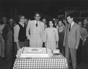 """To Kill A Mockingbird""Dir. Robert Mulligan, Gregory Peck, and his wife Veronique Passani1962 20th/ **I.V. - Image 5344_0012"