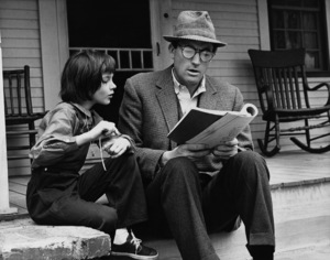 """To Kill a Mockingbird""Mary Badham, Gregory Peck1962 Universal Pictures © 1978 Leo Fuchs - Image 5344_0018"