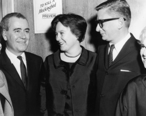 """Harper Lee and director Robert Mulligan at the preview screening of """"To Kill a Mockingbird""""1962 Universal** B.D.M. - Image 5344_0030"""