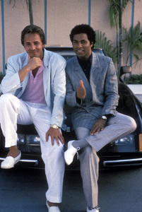 """Miami Vice"" Don Johnson, Philip Michael Thomas1985Photo by Frank Carroll**H.L. - Image 5354_0074"