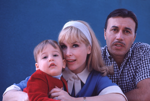 Barbara Eden at home with her husbandMichael Ansara and son Matthew Ansara,c. 1967. © 1978 Gunther - Image 5357_0149
