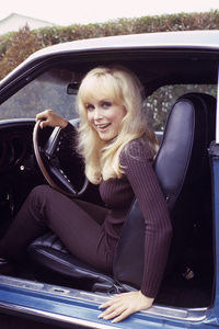 Barbara Eden and her 1969 428 Ford Mustang at Home in Los Angeles, California1970Photo by Herm Lewis** H.L. - Image 5357_0181