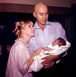 Barbara Eden at home with husbandMichael Ansara and son Matthew Ansara,1965. © 1978 Bernie Abramson - Image 5357_0189