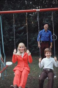 Barbara Eden at home with her husbandMichael Ansara and son Matthew Ansara,1973. © 1978 Gunther - Image 5357_0193