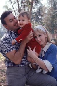 Barbara Eden at home with her husbandMichael Ansara and son Matthew Ansara,c.1967. © 1978 Gunther - Image 5357_0195