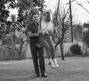 Barbara Eden with Michael Ansara at home, c. 1966 © 1978 Chester Maydole - Image 5357_0203
