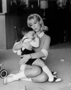 Barbara Eden with her son Matthew Ansara at age 15 months, 1966 © 1978 Chester Maydole - Image 5357_0206
