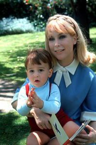 Barbara Eden with her son Matthew Ansara at age 15 months, 1966 © 1978 Chester Maydole - Image 5357_0207