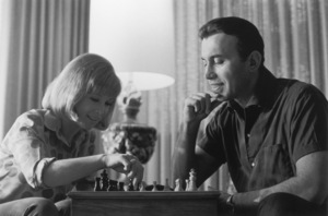 Barbara EdenPlaying chess with husband Michael AnsaraCirca 1964 © 1978 Kim Maydole Lynch - Image 5357_0217