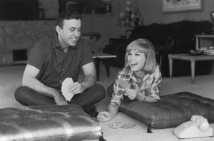 Barbara EdenPlaying cards with husband Michael AnsaraCirca 1964 © 1978 Kim Maydole Lynch - Image 5357_0218