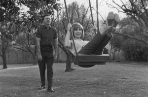 Barbara EdenWith husband Michael AnsaraCirca 1964 © 1978 Kim Maydole Lynch - Image 5357_0219