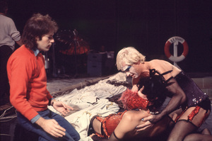 """""""Rocky Horror Picture Show, The""""Dir. Jim Sharman, Tim Curry, Peter Hinwood on the Set1975 20thPhoto by John Jay / **I.V. - Image 5376_0088"""