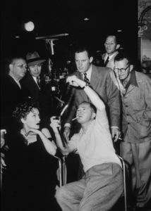 """""""Sunset Boulevard,"""" Erich Von Stroheim,Gloria Swanson, Billy Wilder, & William Holdenon the set, 1950.**I.V. - Image 5378_0125"""