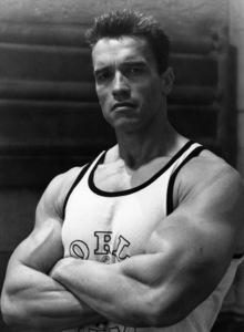 Arnold Schwarzenegger at World Gym1988© 1988 Bruce McBroom - Image 5389_0071