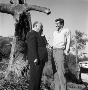 """""""Psycho""""Director Alfred Hitchcock, Anthony Perkins1960 ParamountPhoto by William Creamer** I.V. - Image 5408_0037"""