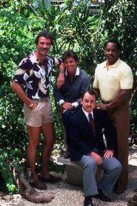 """""""Magnum P.I.""""Tom Selleck, Larry Manetti, Roger E. Mosley,John Hillerman1983 CBS © 1983 Gene TrindlMPTV - Image 5412_0032"""