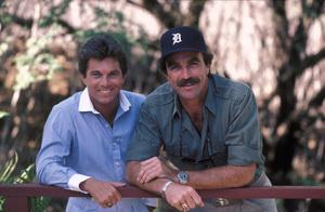 """Magnum, P.I.""Larry Manetti, Tom Selleck1984 © 1984 Gene Trindl - Image 5412_0089"