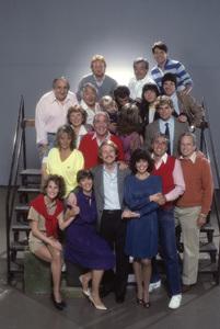 """Happy Days"" Pat Morita, Henry Winkler, Anson Williams, Don Most, Al Molinaro, Marion Ross, Heather O"