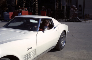 """""""The Partridge Family""""David Cassidy and his 1972 Corvette coupecirca 1970s** H.L. - Image 5418_0068"""
