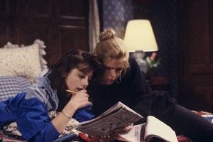 """""""Family Ties""""Justine Bateman, Meredith Baxter1989© 1989 Gene Trindl - Image 5419_0053"""