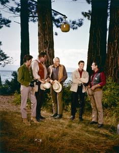 """Bonanza""Michael Landon, Dan Blocker, Lorne Greene, David Canary, Bing Russellcirca 1962** H.L. - Image 5424_0001"