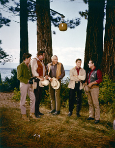 """Bonanza""Michael Landon, Dan Blocker, Lorne Greene, David Canary, Bing Russellcirca 1962** H.L. - Image 5424_0001"