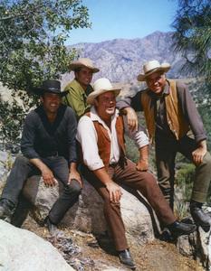 """Bonanza""Pernell Roberts, Michal Landon, Dan Blocker, Lorne Greene1959 NBCPhoto by Gerald Smith - Image 5424_0038"