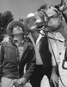"""Bonanza""Dan Blocker, Michael Landon circa 1967**I.V. - Image 5424_54"